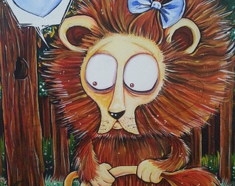 """The Cowardly Lion - Wizard of Oz - 5"""" x 7"""" Glossy Print"""