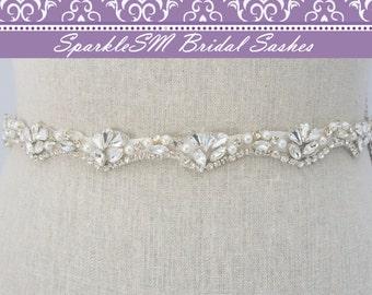 Perle Cristal ceinture, ceinture de perles de mariage, robe de mariée Sash, ceinture de strass, ceinture de mariée, demoiselles d'honneur ceinture strass perle guillotine