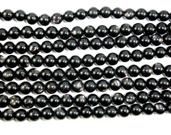 Hypersthene Beads, Round, 6 mm, 15.5 Inch, Full strand, Approx 62 beads, Hole 1 mm, AA quality (276054001)