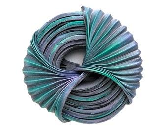 Shibori ribbon «Keeper of a distant nebula» 30 cm Silk Handmade Non-toxic dye