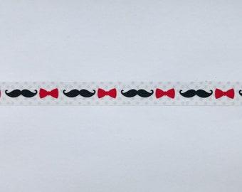 "Mustache and Bow Ties Washi Tape - 24"" sample - Fun Washi, Wedding Washi"