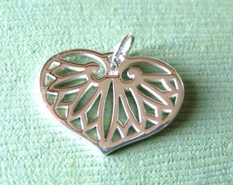 Sterling Silver Palm Leaf Openwork Charm