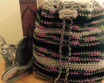 Multicolored Crochet Backpack