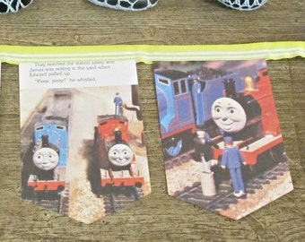 SALE Thomas the Tank Engine Birthday Bunting - Nursery James and the Troublesome Trucks - Train Party Supplies Decor Homewares Bookworm Gift