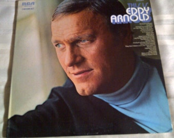 This Is Eddy Arnold 33 RPM Record Album. Eddy Arnold Vintage 33 RPM Recording.