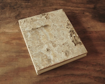 wood wedding guest book  birch bark cabin vacation home - rustic gold natural unique wedding anniversary gift memorial ready to ship