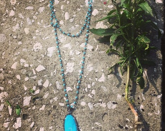 Faux turquise necklace