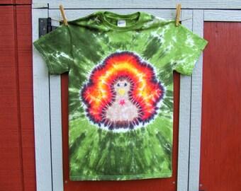 Thanksgiving Turkey Tie Dye T-shirt  S, M, L, XL, 2XL- Made To Order