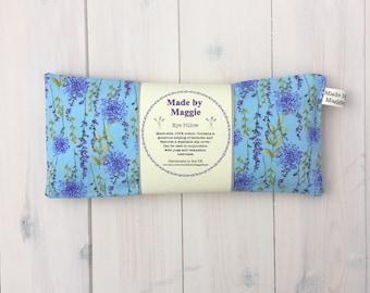 Lavender Eye Pillow with pretty lavender print slip-cover, Relaxation eye pillow, Lavender eye bag, Yoga and mindfulness eye pillow