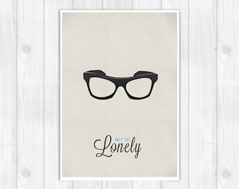 20% OFF!! Roy Orbison print - Only The Lonely - Music poster Music print Lyrics Print