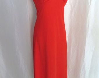 Vintage womens dress, ladies dress, Halloween dress, maxi dress, devil costume dress
