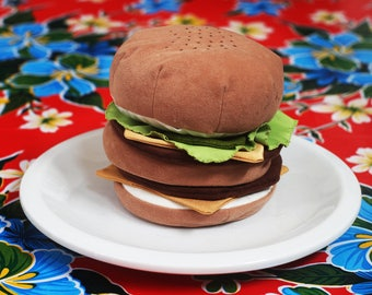 Fabric Art Burgers by Judy Wagstrom - Hold the Pickels, Hold the Lettuce, etc.