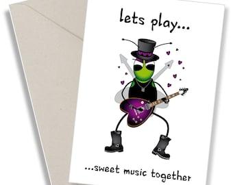 Cute quirky love card