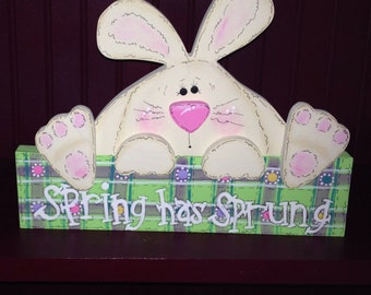 Spring Has Sprung Easter Sign