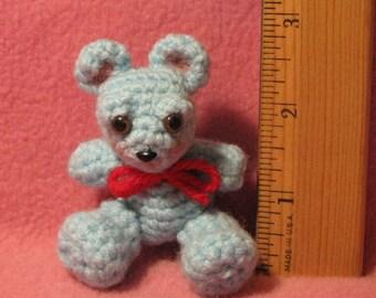 Crocheted Tiny Micro Bear