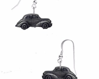 "pair of Morris Minor Series 2 (Split Screen ""Face Lift"") on sterling silver hook Earrings Codec164  jewellery jewelry"
