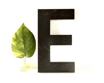 """Vintage Industrial Letter """"E"""" 3D Sign Letter in Black Heavy Plastic (12"""" tall) N2 - Industrial Home Decor, and more"""