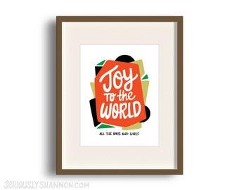 Joy to the World Holiday Decor Signs, Holiday Wall Decor, Holiday Sign, Christmas Sign, Holiday Prints, Christmas Wall Art