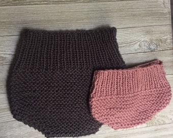 Knit Baby Bloomers Pattern, Knit soaker pattern, knit diaper cover pattern, baby bottoms knitting pattern, knitting pdf modern knit, baby