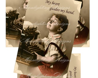 POSTCARD TYPEWRITER VINTAGE Just Because, Friendship, Hello, I Love You, Thinking of You, Special, Digital, Download, Printable, 103p