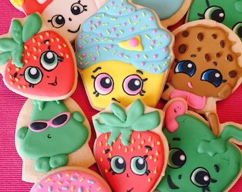 Shopkins Cookies, Shopkins Party, Shopkins Birthday Party Favors, Shopkins Cake,