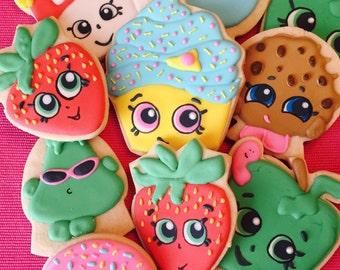 Shopkins Cookies, Shopkins Party, Shopkins Birthday Party Favors, Shopkins Cake,