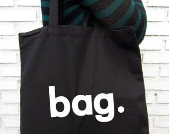 Egocentric bag  -  Black Tote Bag – Screen Printed 100% Cotton.