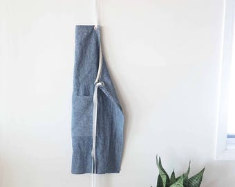 Florist apron full linen blend demin apron ties and large pocket