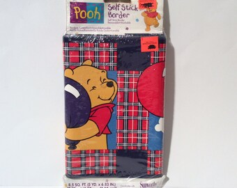 Vintage New in Package Winnie the Pooh Self Stick Wallpaper Boarder