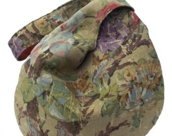 Slouchy bag, Brown Slouchy bag, Japanese Knot bag, Gift for her, Fabric bag, Hobo bag, Vintage bag, Knot bag,  Slouch bag, Shoulder bag