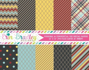 80% OFF SALE Digital Scrapbook Papers Personal and Commercial Use Afternoon Crafts Medley
