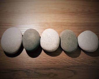 Smooth Beach Stones, Round Grey Pebbles, Terrarium Stones, Irish Sea Stones, Aquarium Rocks, Garden Rocks, Terrarium Rocks, Stones for Snake