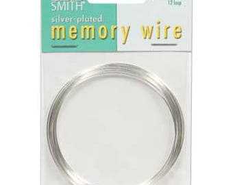 """Beadsmith Silver Plated Memory Wire 2 1/2"""" Diameter, 12 Loop"""