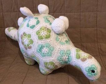 Soft Handmade Crochet Stegosaurus Dinosaur