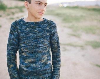 Crochet Sweater Pattern for Boys Knit Look No. 1