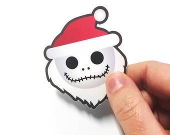 Skeleton Santa Claus Sticker