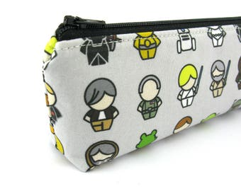 Star Wars Character Pencil Case - Pencil Pouch - Zip Pouch - Small Bag - Zipper Pouch - Planner Pencil Case Organiser