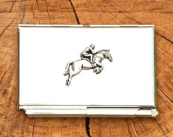 Show Jumping Credit Card Holder Notepad Eventing Gift
