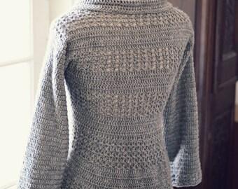 Crochet PATTERN - Ladies' Shrug - Cardigan