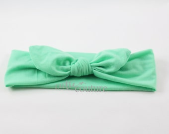 Mint Headband, Mint Knotted Headband,Knotted Headband, Fabric Knotted Headband, Baby headband, Baby Shower Gift, One Size Fits Most