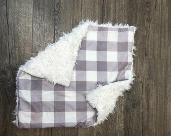 Baby blanket, baby lovey, plaid blanket, security blanket, baby shower gift, birthday gift