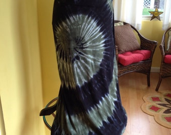 Tie dye maxi skirt, Tie dye midi skirt, Hand dyed skirt, Grooy skirt, Cotton tie dye skirt