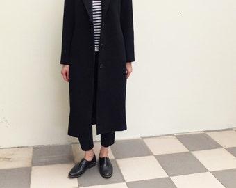 Cashmere wool minimalist coat