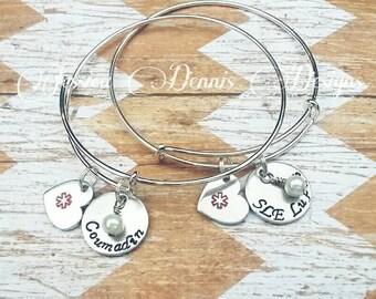 Medical ID Bracelet - Medical Alert Bangle - Medical ID - Medical Alert Jewelry - Diabetic - Allergy Bracelet - Pretty Medical Bracelet