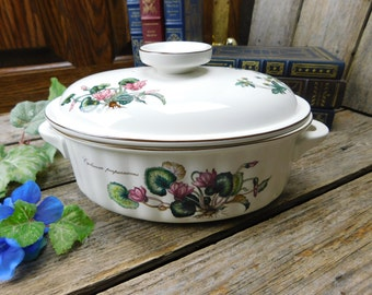 Vintage Villeroy & Boch Botanica Oval Covered Casserole Dish