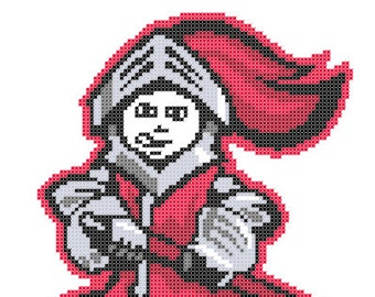 Rutgers Scarlet Knights Logo -- Counted Cross Stitch Chart Patterns, 3 sizes!