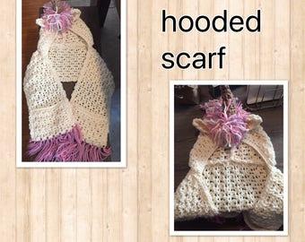 Unicorn hooded scarf