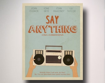 Say Anything Inspired Minimalist Movie Poster