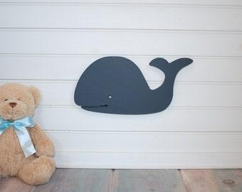 6 inch tall Navy Blue Whale nursery wall decor, nautical home,beach house, nautical nursery, sea creatures, blue under the sea,cottage decor