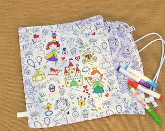 Bag nursery, kindergarten bag, backpack poncho, bag color, blanket, blanket poncho bag, snack bag